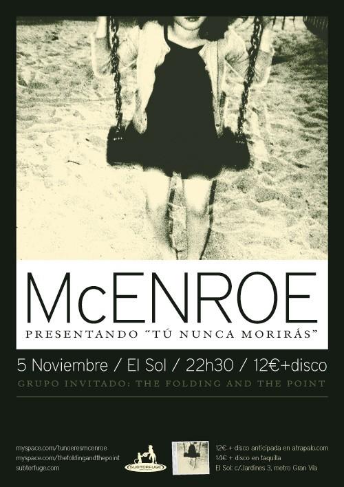 """McEnroe """"Tú nunca morirás"""""""