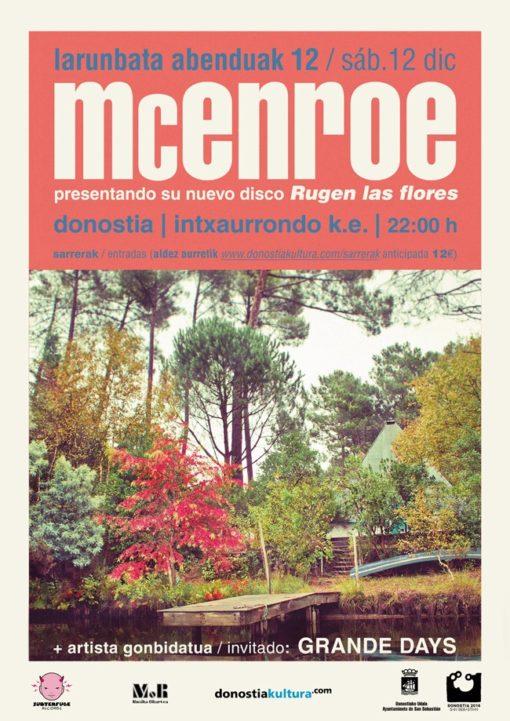 "McEnroe ""Rugen las flores"" Donostia"