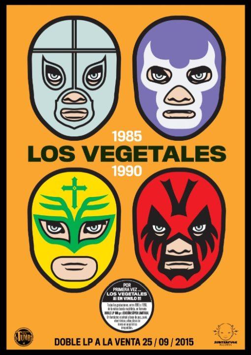 (Cartel) Los Vegetales máscaras