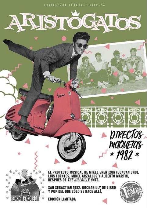 "Cartel Aristogatos ""Directos Maquetas 1982"""