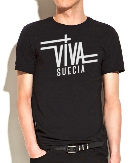 Camiseta Viva Suecia (negra)