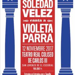 "Cartel Soledad Vélez ""Violeta Parra"""