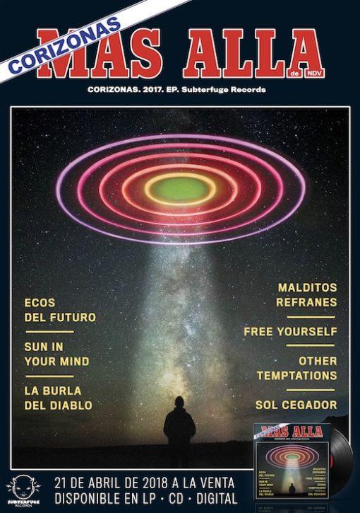 """Cartel Corizonas """"Más allá"""" vinilo"""